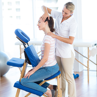 chair massage. Massage Therapy Chair F